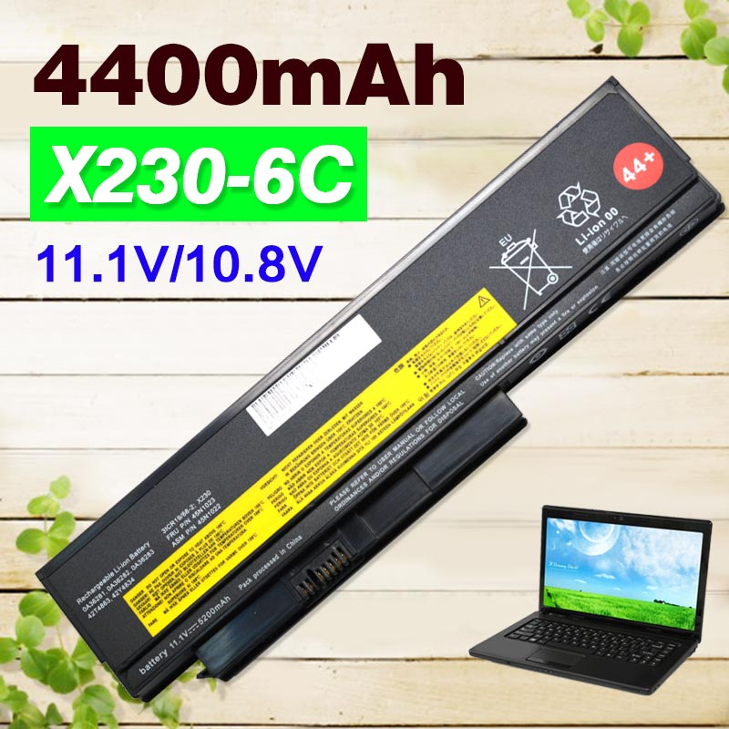6 cell 4400mAh laptop Battery For Lenovo ThinkPad X230 X230s Series for Tablet 0A36285 0A36286 42T4877 42T4878 цена