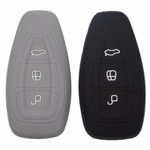 3 Buttons Silicone Key Cover Case For Ford Fiesta Focus Mondeo Ecosport Kuga Focus st Auto Car Key Shell With Logo