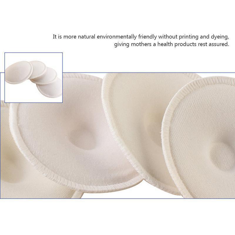 4x Washable Women Nursing Breastfeeding Breast Pads Anti-Spilled Nursing Pads L