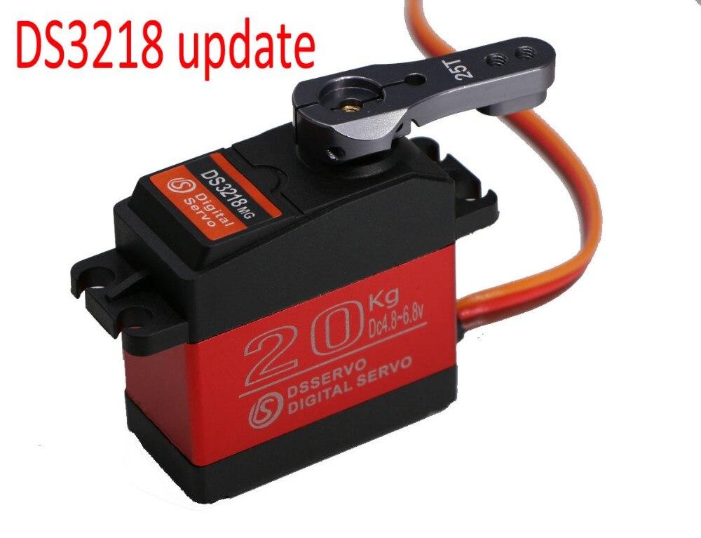 4 piezas DS3218 actualización RC servo 20 kg full metal gear servo digital servo baja costumbre versión impermeable para baja coches + envío libre