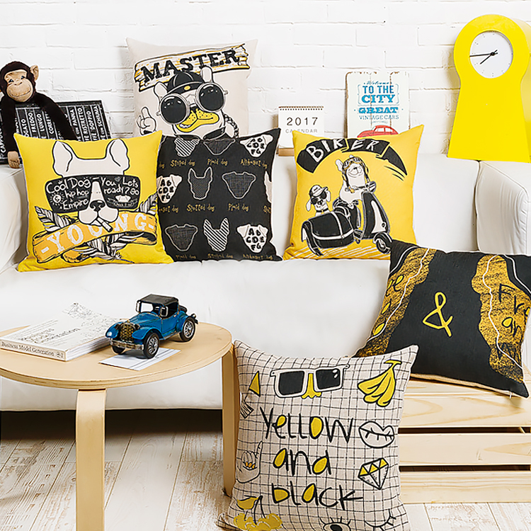 Aliexpress.com : Buy Drop Ship Pop Dogs Pillow Cover Boho Glasses Cushion Cover Throw Pillow ...