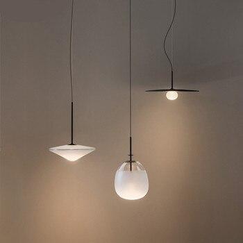 Lampe de pendentif LED en verre de fer du danemark Post-moderne pour la lampe de Suspension de salle à manger de Foyer de chevet 110/220 V 1751
