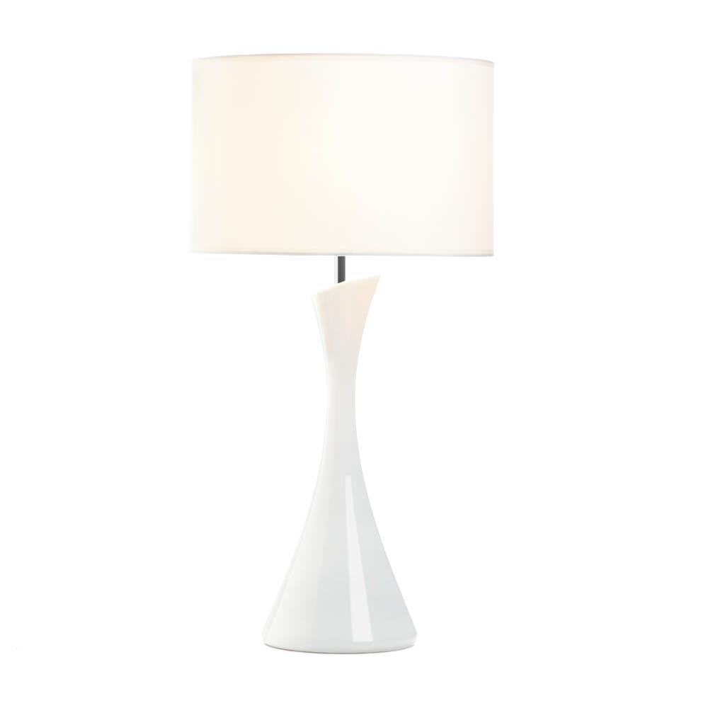 Gallery of Light Sleek Modern White Table Lamp все цены