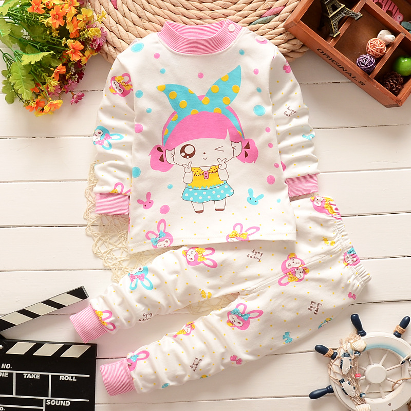 Baby Boys Clothes Girls Pajamas Infant Clothing Set Cotton Cartoon Dog With Hat Suit Kids Children Long Sleeve Sleep Night Wear 2015 new arrive super league christmas outfit pajamas for boys kids children suit st 004