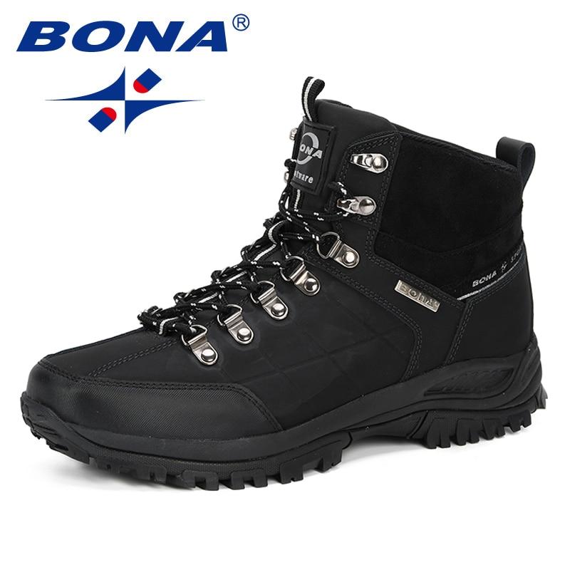 Bona novo designer botas masculinas outono & inverno 2019 homens botas de tornozelo moda ao ar livre botas de trabalho tenis masculino adulto confortável