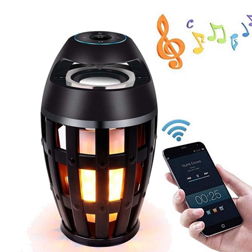Portable wireless Bluetooth Speaker Led Flame Realistic Dancing Flames Speakers Outdoor Loudspeaker