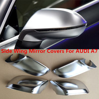 4pcs/set Side Wing Mirror Covers For AUDI A7 S7 RS7 4G 2010 2017 ABS Chrome Rearview View Mirror Replacement Cover