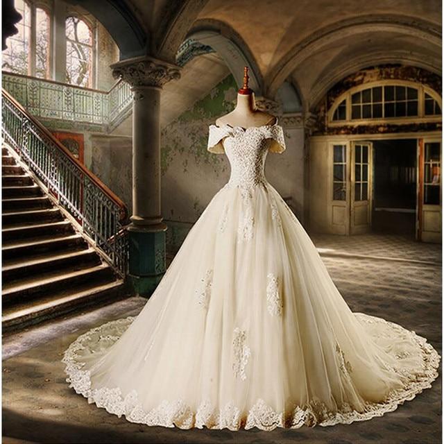 Beautiful Ball Gown Wedding Dresses 2017 New Elegant Appliques ...