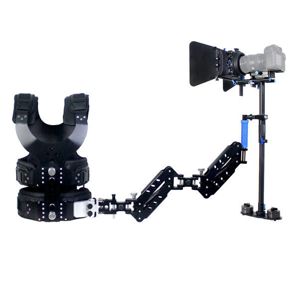 1-7KG  Magic Carbon Fiber Stabilizer Steadycam Steadicam With Double Arms For DSLR  Video DV Camcorder Camera ajustable s60 gradienter handheld stabilizer steadycam steadicam photo studio stabilizer accessories for camcorder dslr