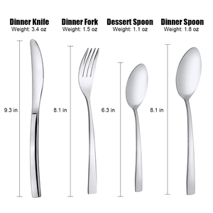 Image 5 - 16 PCS Cutlery Flatware Set Mirror Polishing Cutlery Sets Stainless Steel Silverware Dinnerware Spoons/Knives/Fork Gift Box