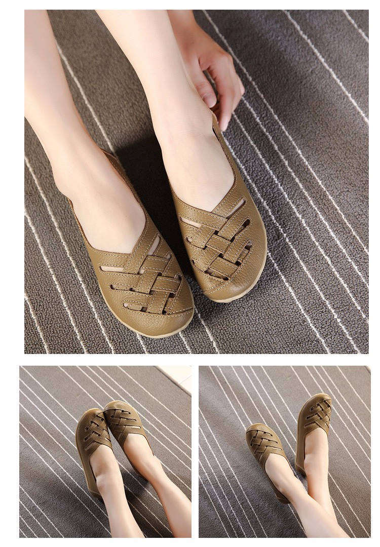 Hot Sale 2016 Spring New PU Leather Woman Flats Moccasins Comfortable Woman Shoes Cut-outs Leisure Flat Woman Casual Shoes ST181 (6)