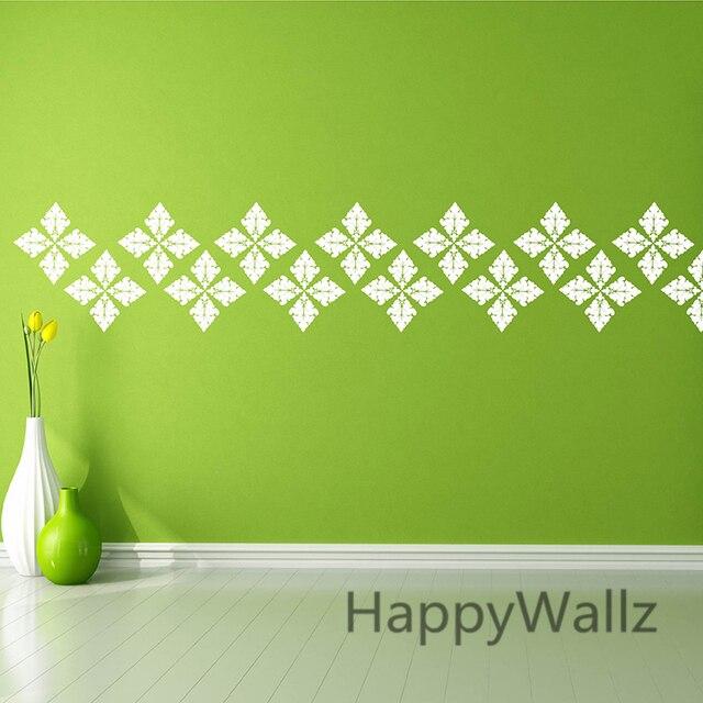 DIY Damask Wall Sticker Decorative Damask Wall Decal Vinyl Wall Art  Stickers Modern Mural Wallpaper P56