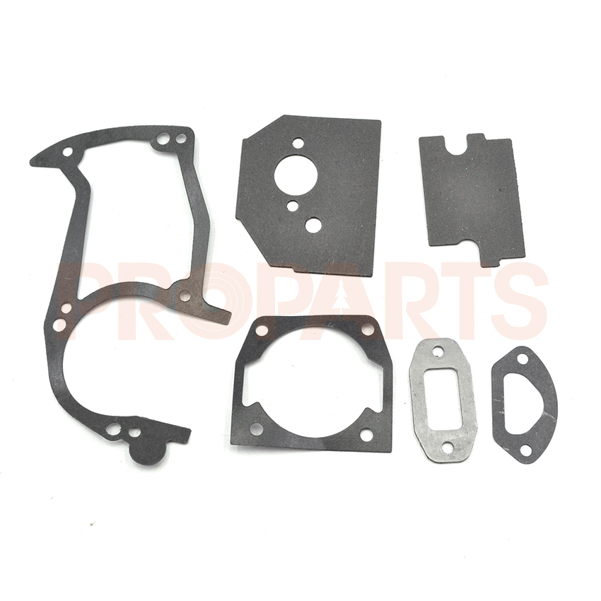 2PCS Chinese 4500 5200 5800 45CC 52CC 58CC Chainsaw Gasket Set  45 2mm cylinder piston gasket assy chinese 5800 58cc chainsaw engine rebuilt kit