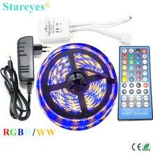 1 комплект RGBW RGBWW SMD 5050 5 м водонепроницаемая светодиодная лента лампа светильник вспышка светильник RGB W лента+ 40 кнопочный пульт дистанционного управления+ 3A адаптер питания