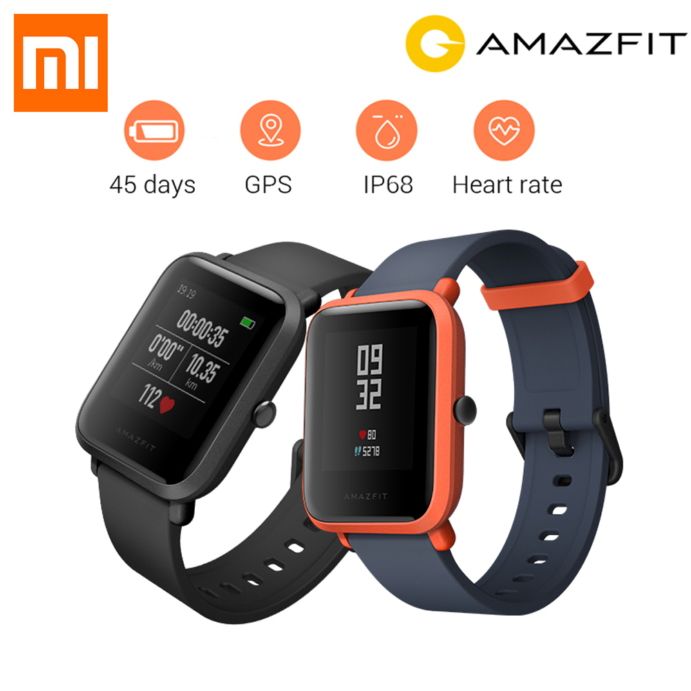 New English Version Huami Amazfit Bip Smart Watch GPS Gloness Smartwatch Smart Watchs 45 Days Standby