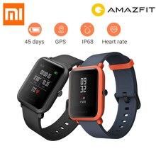 Получить скидку Новая английская версия Huami Amazfit Bip Смарт-часы gps Gloness Smartwatch Смарт Просмотрам 45 дней в режиме ожидания для Xiaomi телефон MI5 IOS