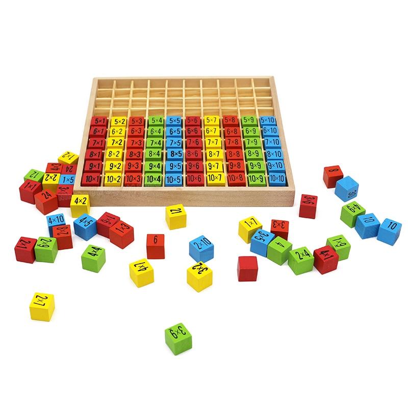 Juguetes para bebés de madera bloque de tabla de tiempos de - Educación y entrenamiento - foto 4