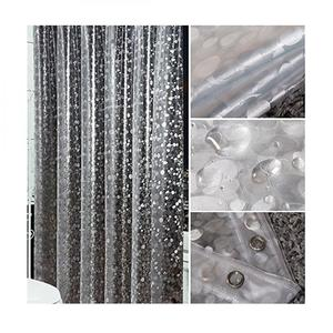Image 2 - New Popular PVC Waterproof Shower Curtain Thickening Three Dimensional Printed Transparent Bath Curtain for Bathroom Decor