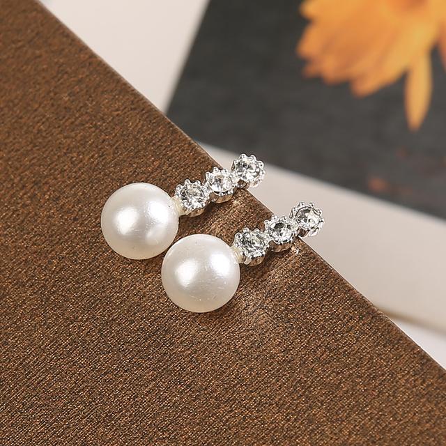 1 Pair Cute Compact Pearl Stud Earrings