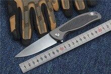 Tactique couteau pliant F95 camping chasse survie couteaux de poche s35vn lame titanium + fiber de carbone poignée EDC utilitaire main outil
