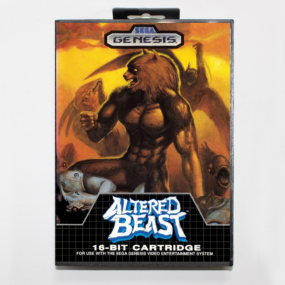 16 bit Sega MD game Cartridge with Retail box - Altered Beast game card for Megadrive Genesis system