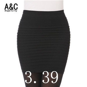 Cheapest-Free-Shipping-New-Fashion-2015-Summer-Women-Skirts-High-Waist-Candy-Color-Plus-Size-Elastic