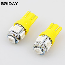 1PC Super Bright T10 5050 5smd clearance lights reading lamp license plate  led Bulbs daytime running lamp  Car Parking light
