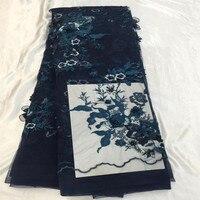 Любовь благодаря кружева последние African Handmade шнуровка 2018 Темно синие французский вышивка тюль кружевной ткани X56 1