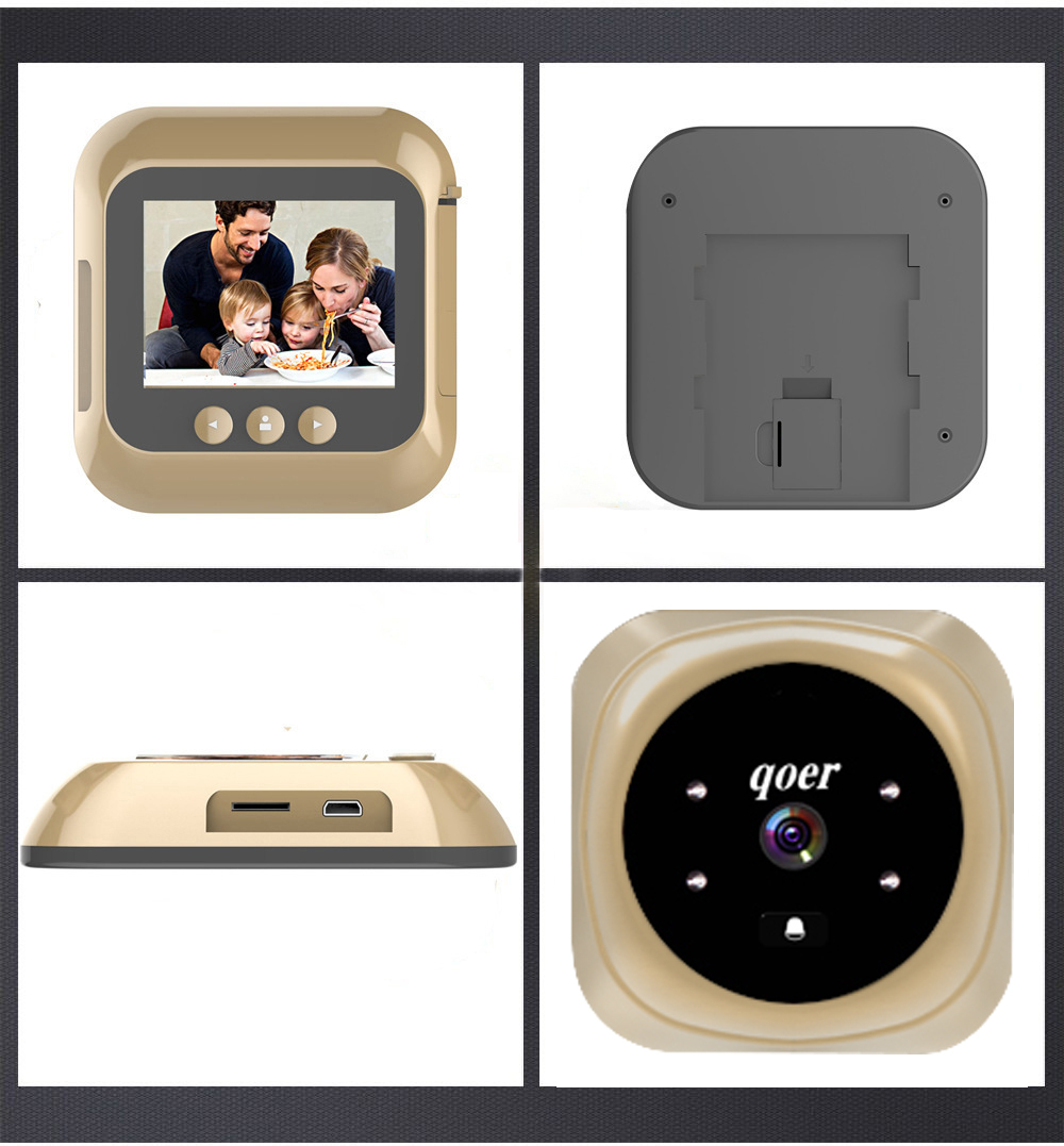 Home Peephole Camera HD Viewer 2.4 Inch Color Screen Electric Door Viewer LCD Security Camera Monitor 160 Degree Angle Lens Home Peephole Camera HD Viewer 2.4 Inch Color Screen Electric Door Viewer LCD Security Camera Monitor 160 Degree Angle Lens