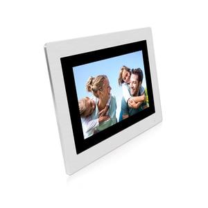 """Image 5 - Ücretsiz kargo WIFI IP 7 """"dokunmatik ekran LCD görüntülü interkom kapı telefonu kayıt kiti kod tuş takımı IC su geçirmez kamera elektrikli kilit"""