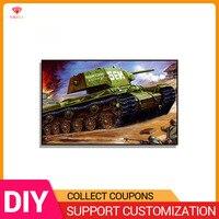 YIKELA 5D Diamond Painting 6 pictures Military tank Diamond Mosaic Full Round Drill Embroidery Diamond Cross Stitch Gift