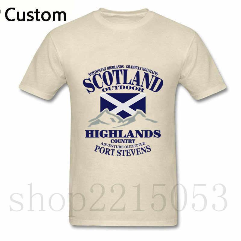 Хлопковая высокогорье Флаг Шотландии мужской футболка 2018 модные liverpools Джерси Для мужчин футболка с принтами из игр Warcraft и dota 2 marcelo burlon patins