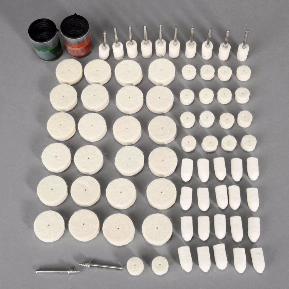 76pcs Wool Polishing Accessories Electric Grinding Mill Kit Wool Grinding Paste Suits Dremel Tools Herramientas