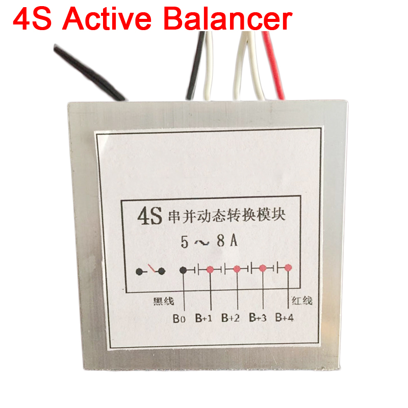 DYKB 5A - 8A 4S Active Balancer Equalizer Lifepo4 Li-ion Lithium Battery BMS High Current Dynamic Conversion Protection Board