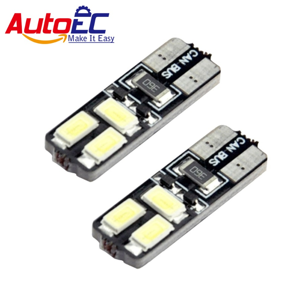 AutoEC <font><b>T10</b></font> LED 6 smd 5630 <font><b>canbus</b></font> Car Parking Tail Turn Indicator Bulbs Light Lamp <font><b>100pcs</b></font> #LB62 image