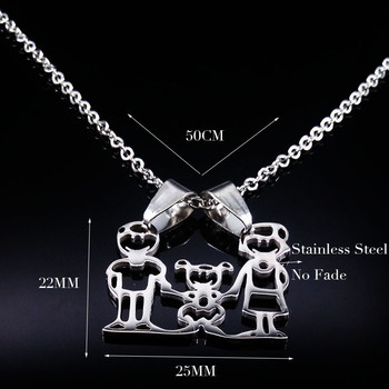 Unisex Family Necklace Jewelry Necklaces Women Jewelry Metal Color: 1 Girl