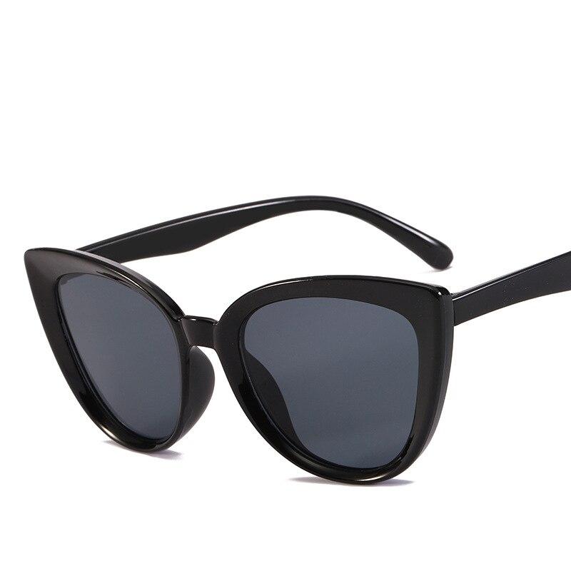 2019 New Sunglasses Retro Fashion Sunglasses Women Brand Designer Vintage Cat Eye Black Sunglasses Ladies Lady  Oculos De Sol