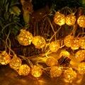 5 m 20 fiesta de navidad Led cadena de luz de interior Pelota de Ratán inicio decoración de La Boda luces de hadas de la lámpara Led garland año nuevo 2017