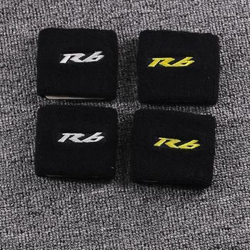 цена на Motorcycle 3D R6 Front Brake Fluid Oil Reservoir Cover Protector For Yamaha YZF R6 R6S 600 YZF-R6 YZFR6 Reservoir Sock
