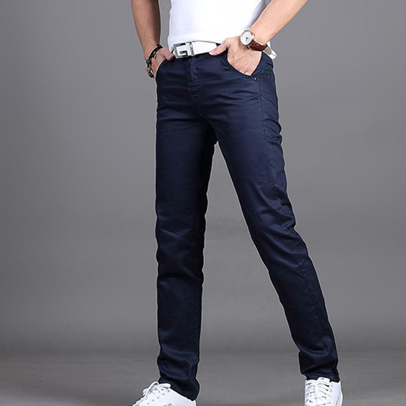 Men Autumn Trousers Men's Full length Slim Pants Male Plus SIze Casual long Pants Smart Causal Straight Men pant SAN0