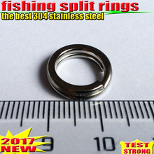 2017 HOT fishing split rings size:5MM–16MM fishing accessories quantity:100pcs/lot the best 304 stainless steel choose size!!!