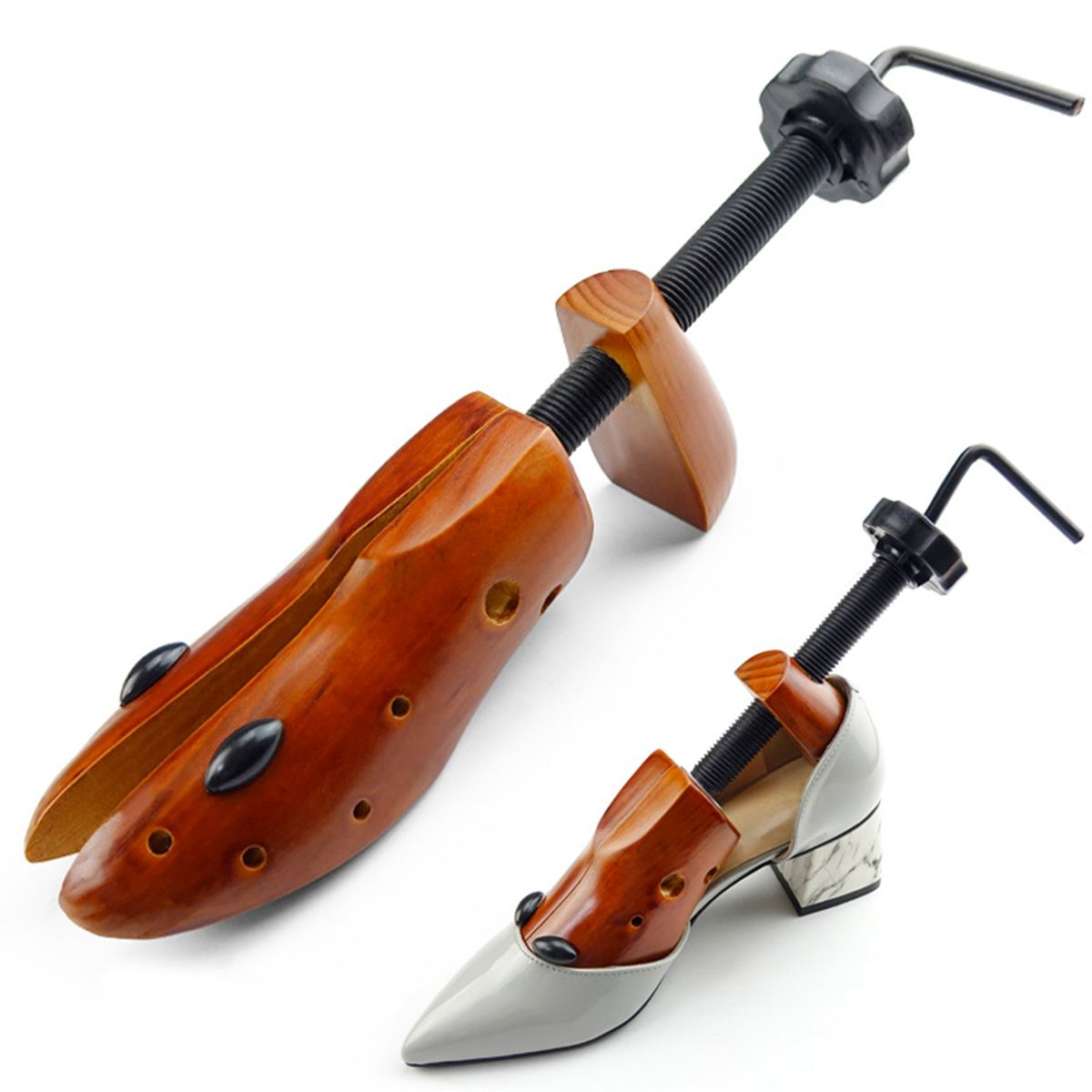 1pcs 2-Way Wooden Shoe Tree For Men And Women Shoes Expander Djustable Shoe Stretcher Shaper Rack Sawol