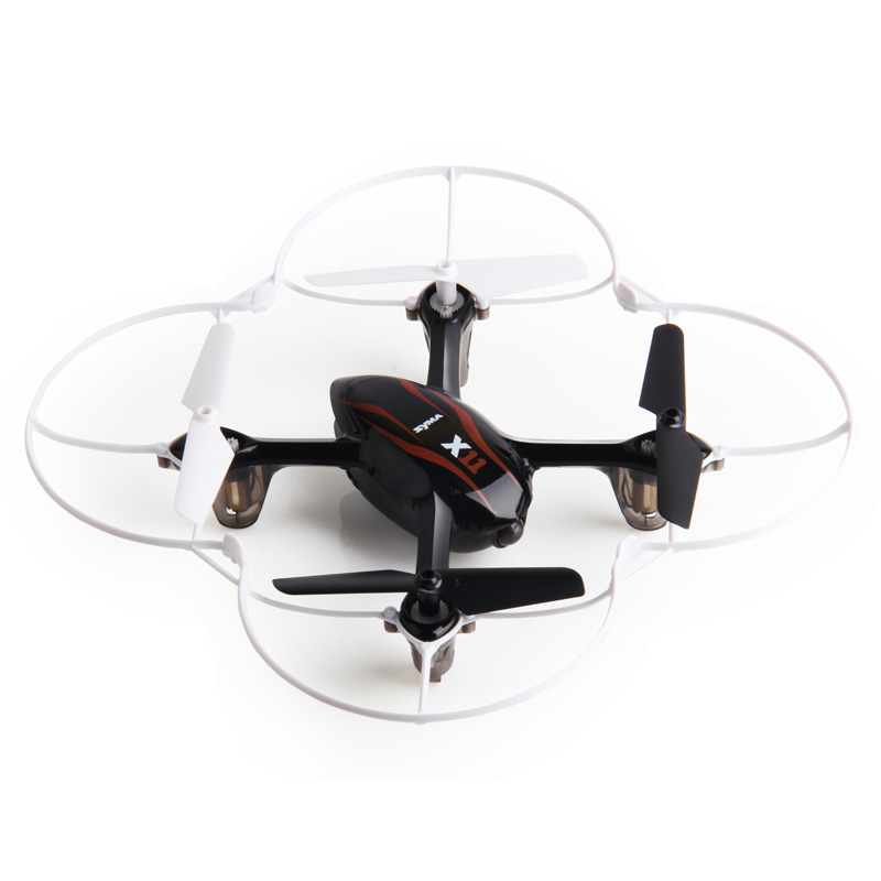 SYMA X11 mini RC Drone LED Light 4CH 2.4GHz 6-Axis Gyro Remote Control RC Helicopter Quadcopter toys-Black