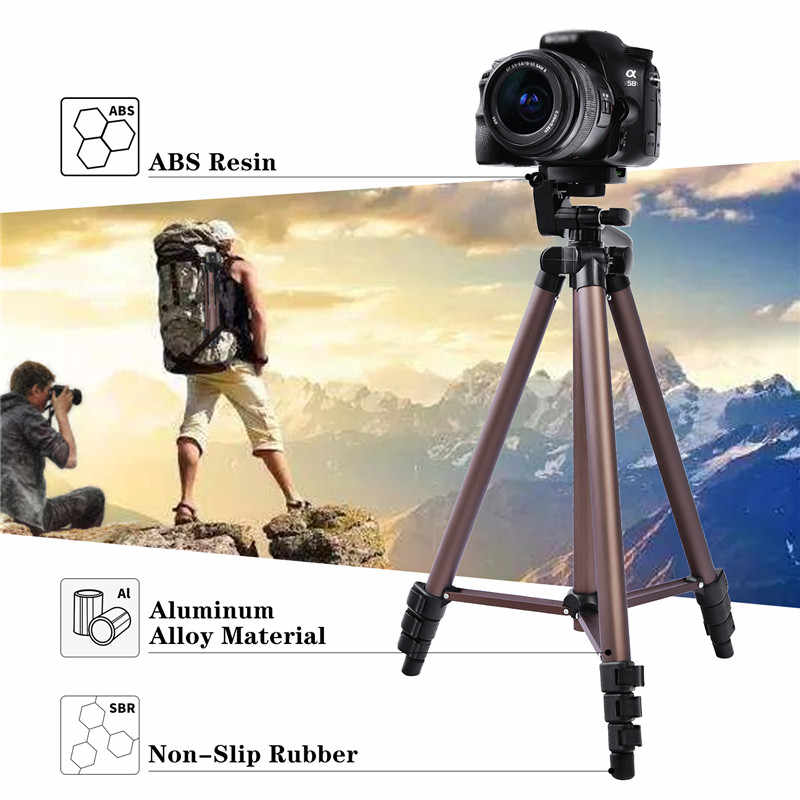 Fosoto WT3130 алюминиевый сплав мини камера штатив с держателем телефона для Canon Nikon sony DSLR цифровая камера DV видеокамера