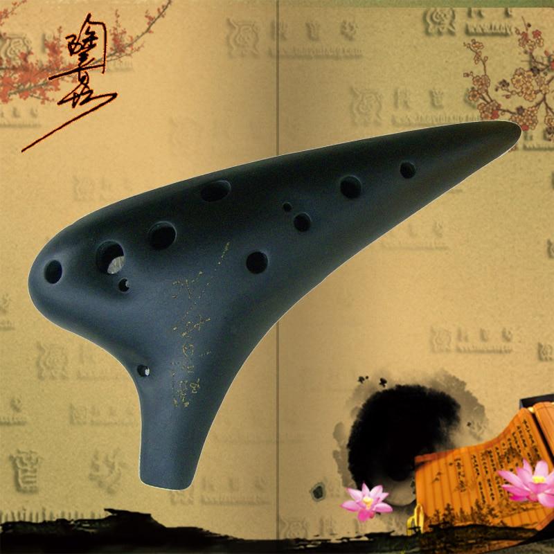12 lyuk Alto C Ocarina agyag fuvola Flauta Klasszikus hangszer - Hangszerek