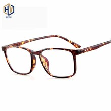 New Men Square Optics Glasses Frame Women Fahion Printing Leopard Spectacles Frames Prescription Eyeglasses