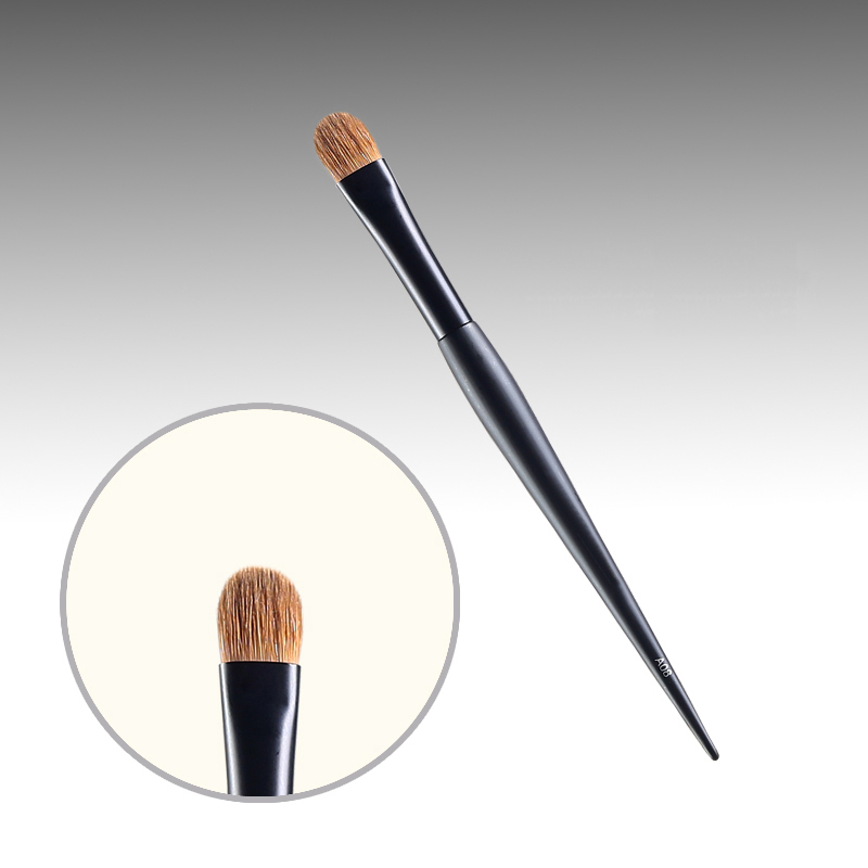 A08 Professional Makeup Brushes Weasel Hair Eye Shadow Brush Black Handle Cosmetic Tools Make Up Brush 7e08 professional makeup brushes weasel hair eye shadow blending brush black handle cosmetic tools smoky eye make up brush