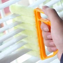 1 cepillo de limpieza de microfibra para ventanas, cepillos para persianas venecianas, limpiador de polvo para aire acondicionado, Herramientas de limpieza para el hogar