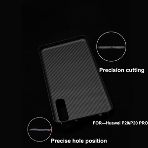 Image 4 - Luxury Phone Case For Huawei P20 Pro Cover Ultra Thin Matte Aramid Fiber Case For Huawei P20   Carbon Fiber Pattern