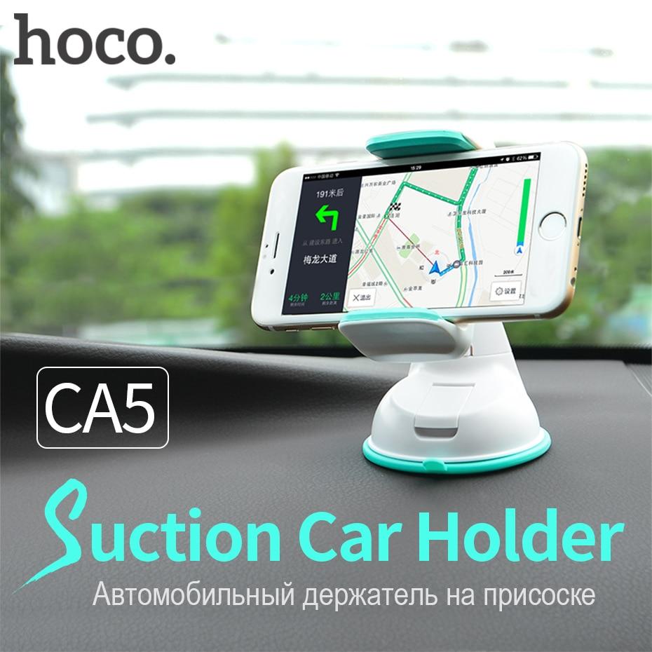 HOCO Support De Voiture 360 Degrés de Rotation D'aspiration de Pare-Brise Stand pour iPhone Samsung Xiaomi Universel Clip pour Téléphones Mobiles